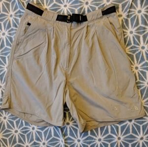 North Face Tibetian Hiking Short Khaki Belted sz L